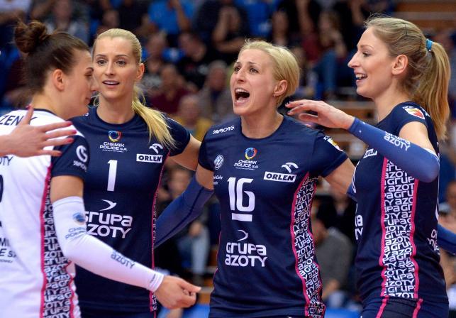 Zawodniczki Chemika Police (od lewej): Mariola Zenik, Anna Werblińska, Aleksandra Jagieło i Agnieszka Bednarek-Kasza