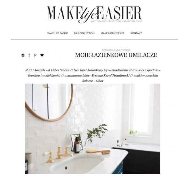 łazienka Kasi Tusk / screen z bloga makelifeeasier.pl