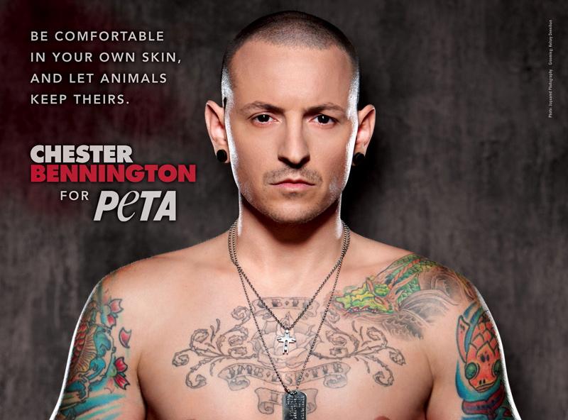Lider Linkin Park obnażył się dla zwierząt