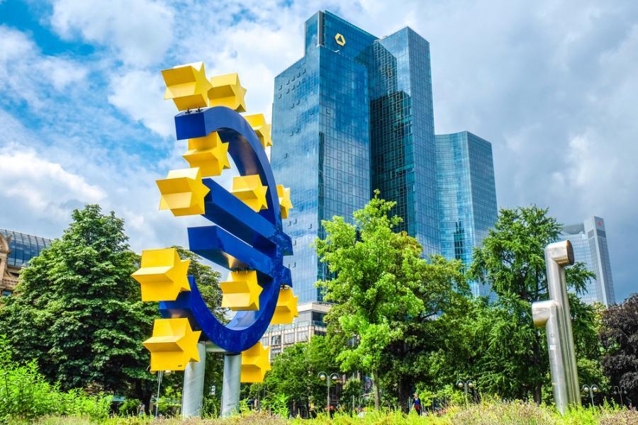 Frankfurt, Niemcy - Centralny Bank Europejski