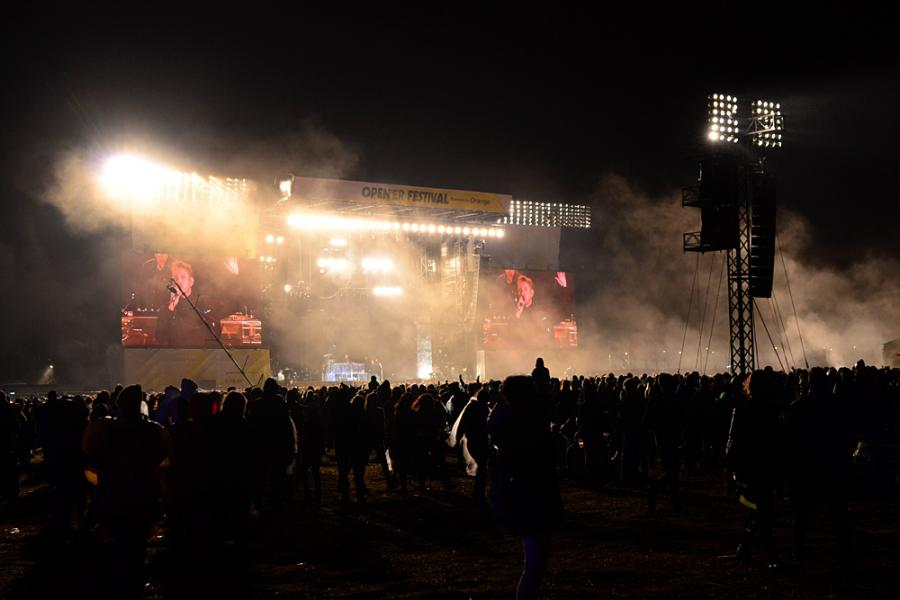 The XX na festiwalu Open'er 2017. 01.07.2017.