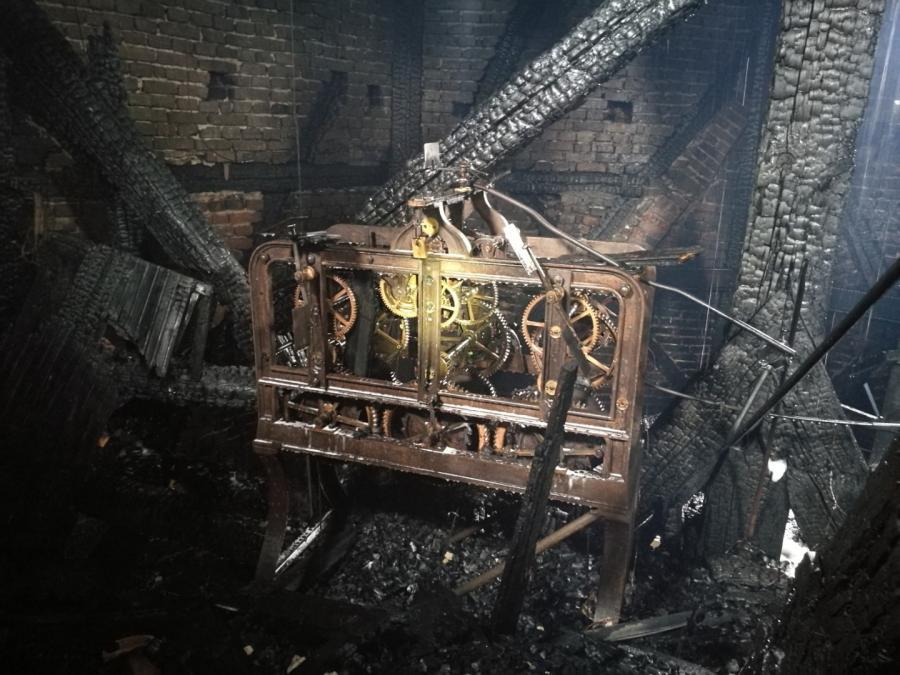 Zdjęcie z wnętrza Kościoła Katedralnego w Gorzowie Wielkopolskim, po pożarze