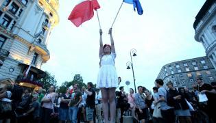 Protest w obronie niezależności sądów w Warszawie