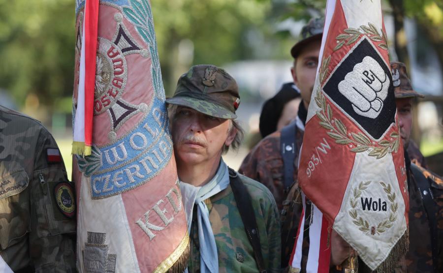 Uroczystość zorganizowana w hołdzie ludności cywilnej Woli