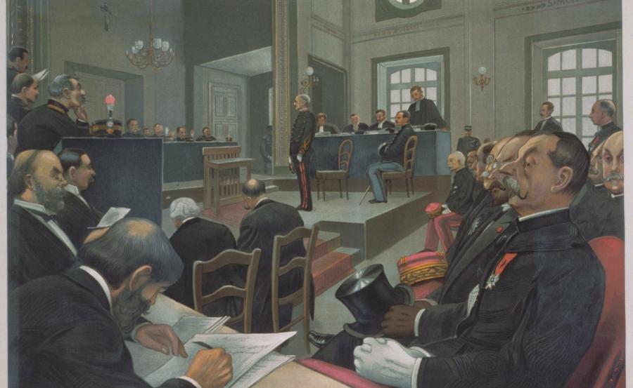 Sprawa Alfreda Dreyfusa. Rycina