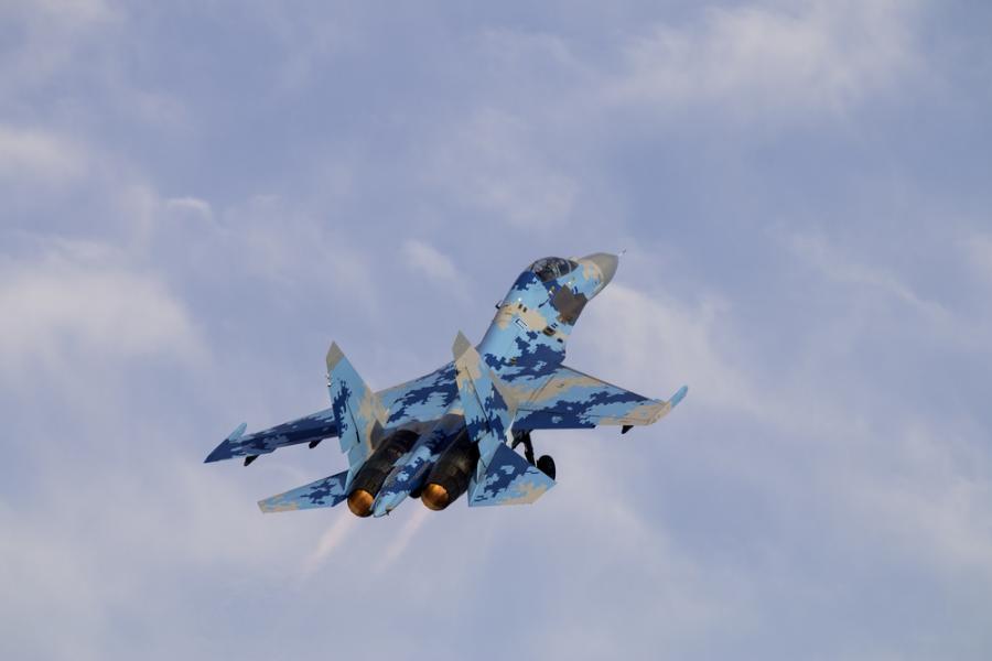 Ukraiński samolot Su-27