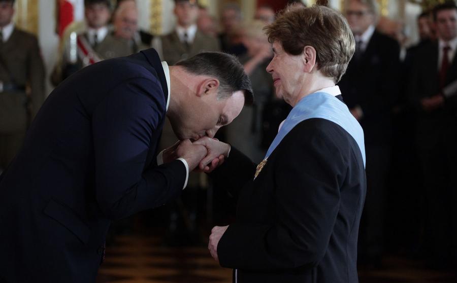 Andrzej Duda i Zofia Romaszewska