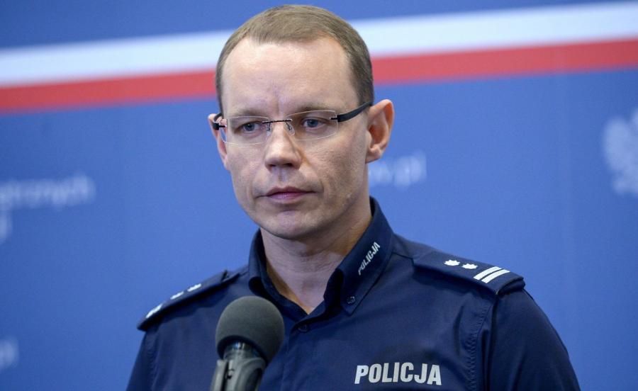 Na zdjęciu archiwalnym z dnia 11.05.2017. komendant stołeczny policji mł. insp. Rafał Kubicki.