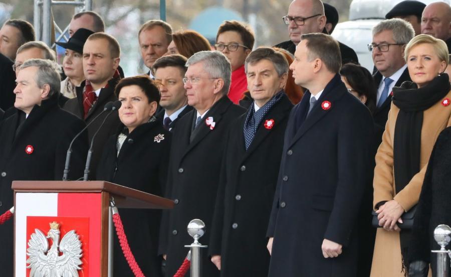Uroczysta odprawa wart przed Grobem Nieznanego Żołnierza w Warszawie