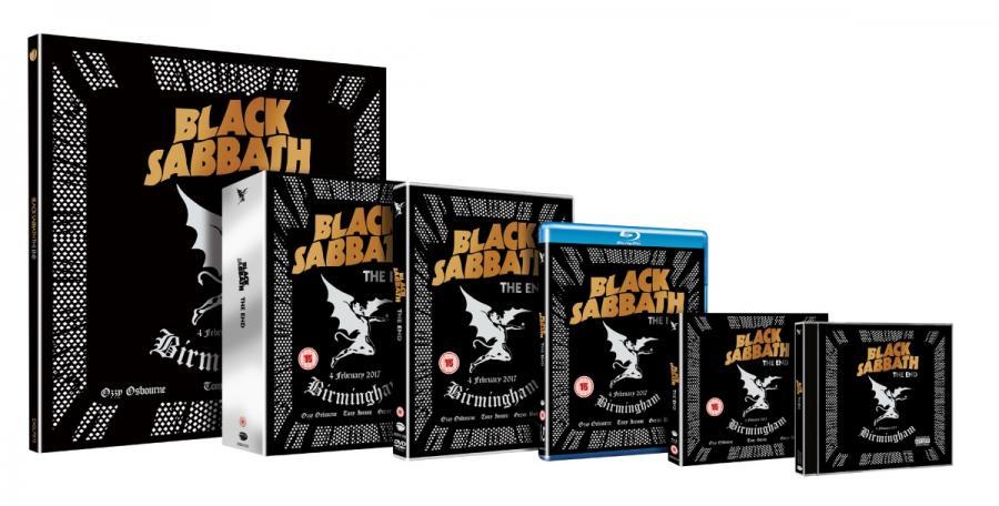 """Niezapomniany, pożegnalny występ Black Sabbath odbył się 4 lutego 2017r. w Genting Arena. Z setlistą wypełnioną takimi hitami jak """"Iron Man"""", """"Paranoid"""", czy """"War Pigs"""" zespół zagrał jeden z najbardziej emocjonujących koncertów w swojej karierze. """"The End"""" to wyjątkowe historyczne wydarzenie i doskonałe pożegnanie ikony heavy metalu.  Wydawnictwo dostępne jest w następujących formatach: 2CD, 3LP, DVD, DVD+CD, Blu-ray, Blu-ray + CD oraz limitowane Deluxe Collector's Edition. Black Sabbath """"The End""""; Universal Music Polska"""