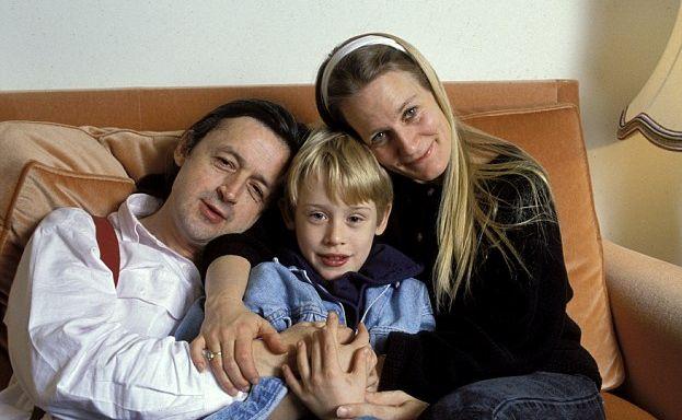 Macaulay Culkin z rodzicami, Kitem Culkinem i Patricią Brentrup, jeszcze w komplecie