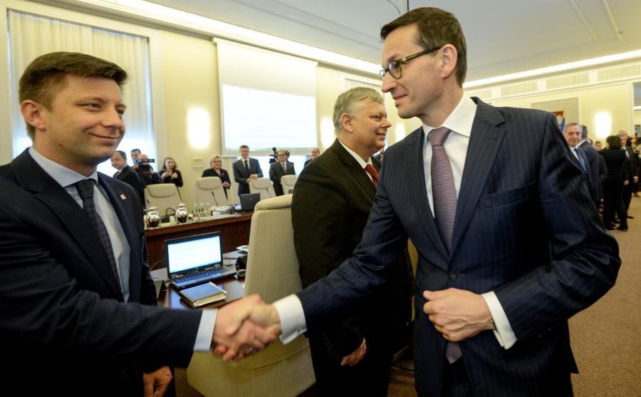 Mateusz Morawiecki i Michał Dworczyk