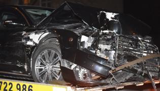 Rozbite opancerzone Audi A8 byłej premier Beaty Szydło