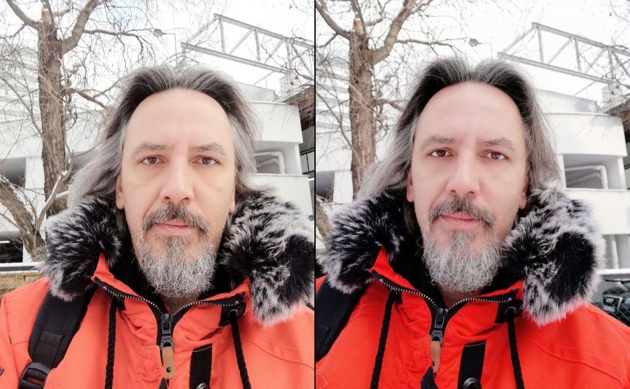 Z lewej zdjęcie zrobione Honorem 7X, z prawej Huaweiem Mate 10 Lite - tryb portretowy