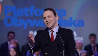 Radosław Sikorski podczas Rady Krajowej PO, 24 bm. w Warszawie.