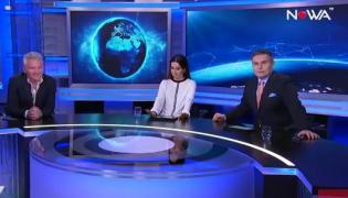 Jarosław Kret i Beata Tadla  studio Nowa TV