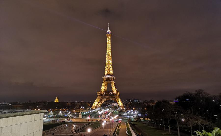 Wieża Eiffla - P20 Pro, tryb nocny