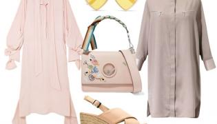 Modne kolory ubrań na lato 2018: Sukienka krótsza - BOCA/boca.pl, buty Menbur/menbur.pl, sukienka dłuższa - Rokh/rokh.com, torebka Fendi/fendi.com, okulary TK Maxx/tkmaxx.pl