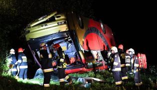 Wypadek ukraińskiego autokaru