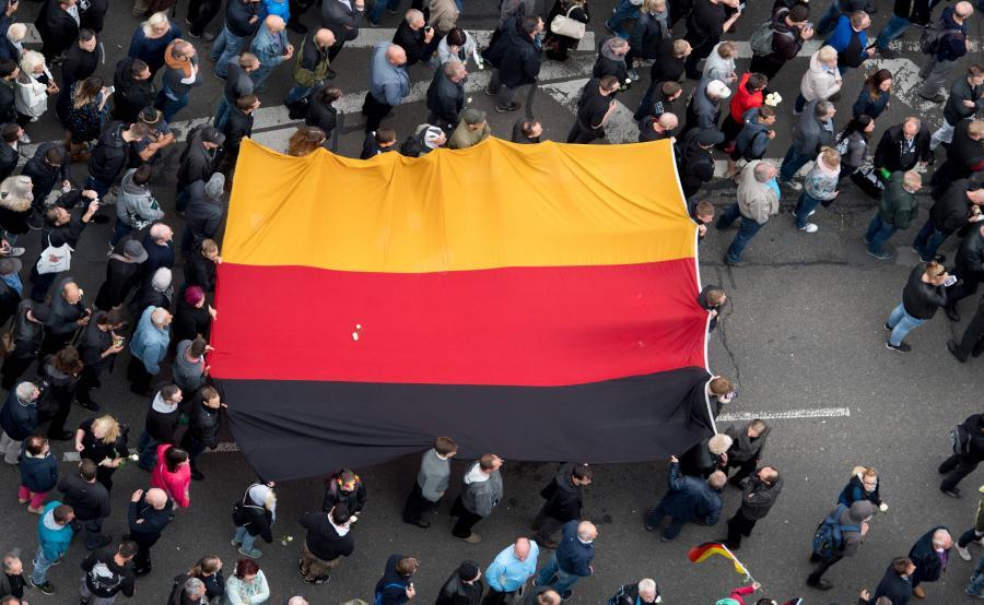 Antyimigrancka demonstracja AfD i Pegidy