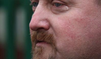 Major Leszek Zakrzewski nie mógł powstrzymać łez po stracie przyjaciela