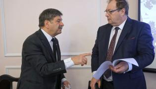 Janusz Śniadek i Główny Inspektor Pracy Wiesław Łyszczek
