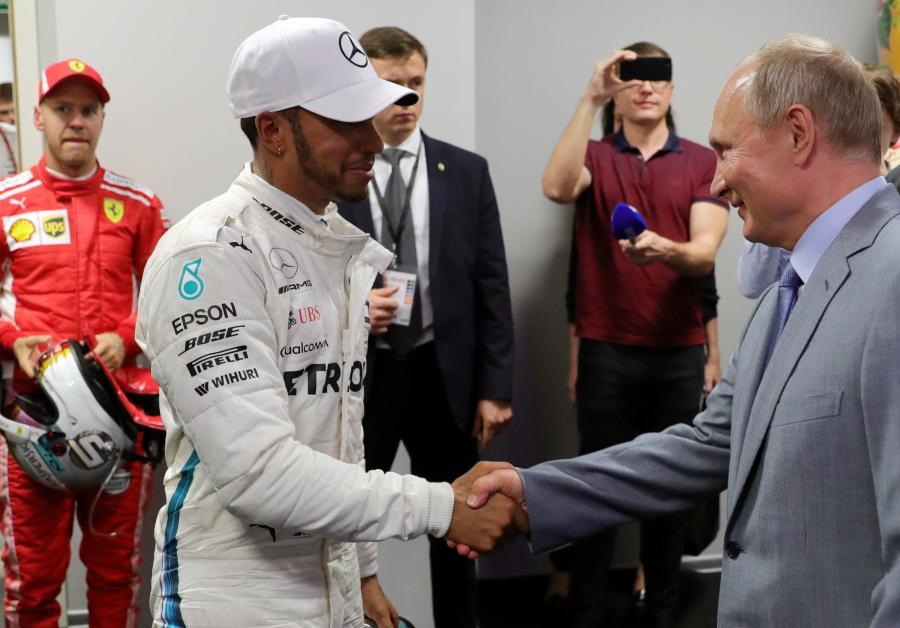 Lewis Hamilton i Władimir Putin