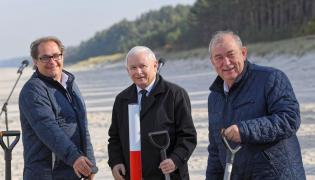 Jarosław Kaczyński na Mierzei Wiślanej