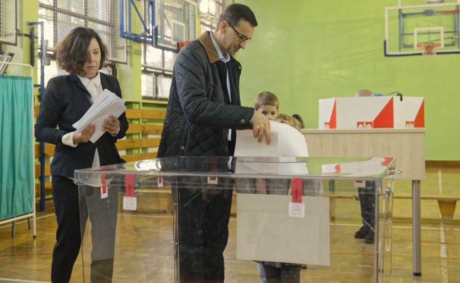 Wybory samorządowe 2018. Mateusz Morawiecki