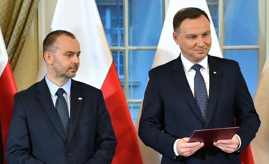 Paweł Mucha i prezydent Andrzej Duda