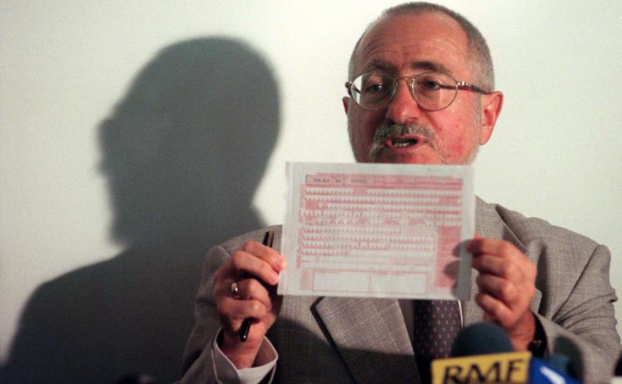 Stanisław Alot jeszcze jako prezes ZUS w 1999 roku