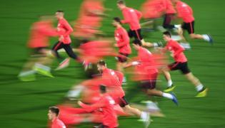 Zawodnicy piłkarskiej reprezentacji Polski
