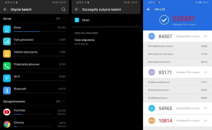 Huawei Mate 20 Pro bateria, AnTuTu Benchmark