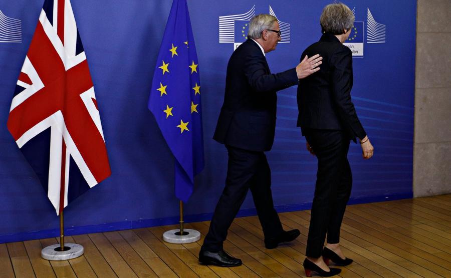 Jean-Claude Juncker i Theresa May