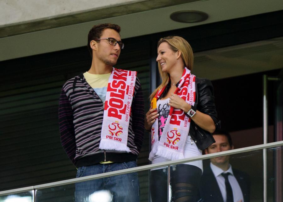 Jerzy Janowicz i Marta Domachowska