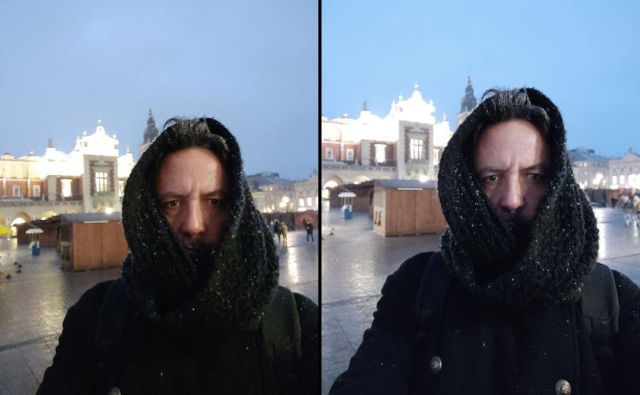 Zdjęcia selfie z telefonów Mi 8 i Mi 8 Pro