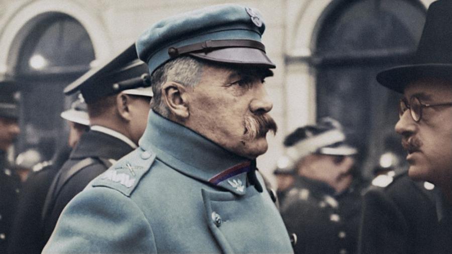 Józef Piłsudski w kolorze - kadr z filmu \