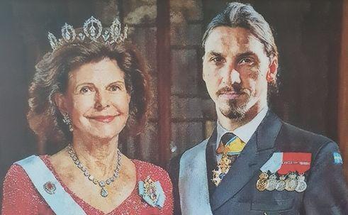 Królowa Sylwia i Zlatan Ibrahimovic