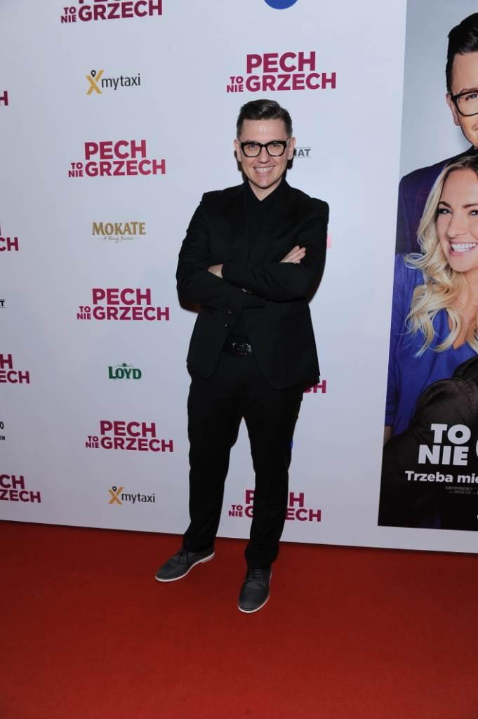 """Krzysztof Czeczot na premierze filmu """"Pech to nie grzech"""" 17 grudnia 2018"""