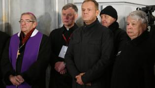 Szef Rady Europejskiej Donald Tusk na wiecu w Gdańsku