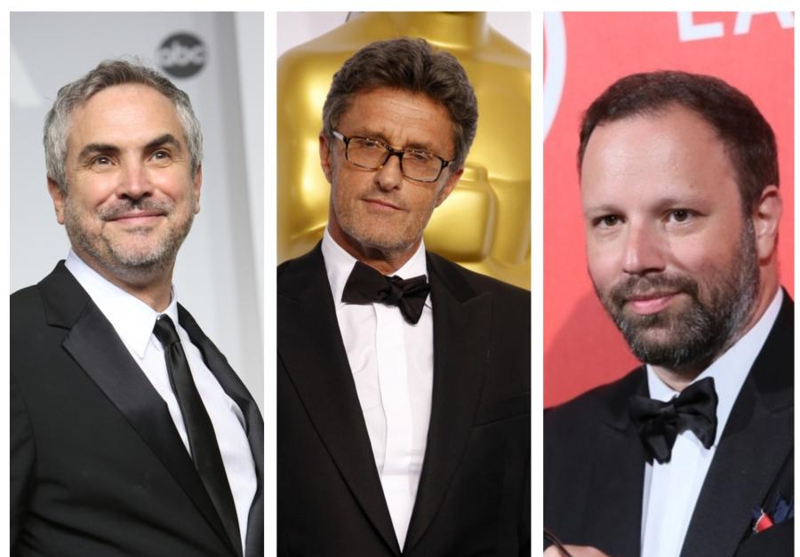 Od lewej: Alfonso Cuaron, Paweł Pawlikowski i Jorgos Lanthimos