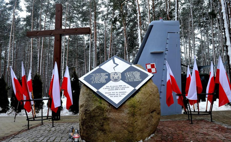 Katastrofa CASY. Pomnik w Mirosławcu