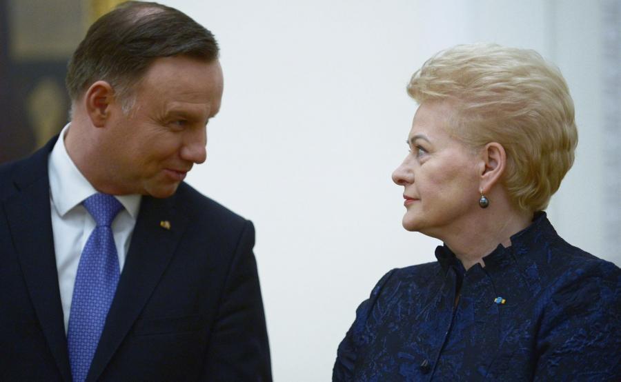 Prezydent RP Andrzej Duda i prezydent Litwy Dalia Grybauskaite