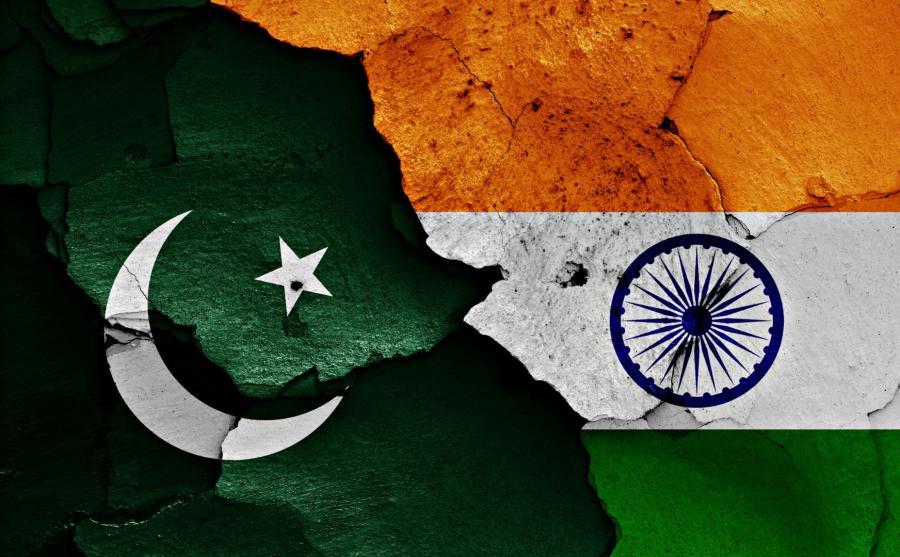 Flagi Pakistanu i Indii