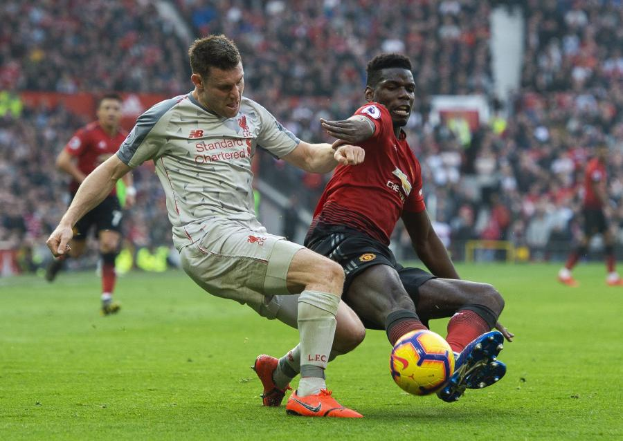 James Milner i Paul Pogba