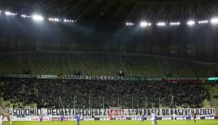 Transparent na meczu w Gdańsku