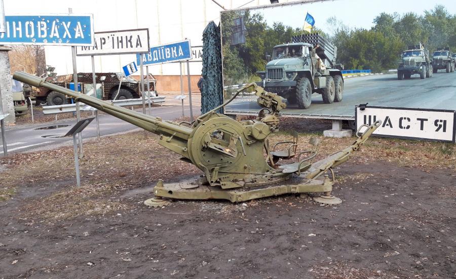 Sprzęt z walk w Donbasie