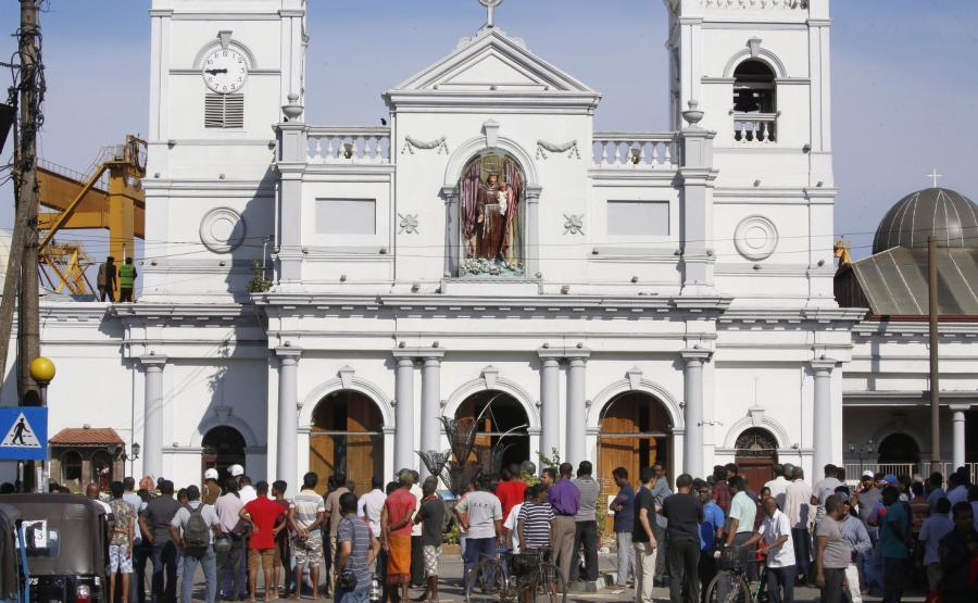 Jeden z zaatakowanych kościołów na Sri Lance
