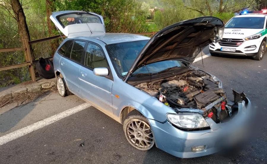 Mazda Polaka po zatrzymaniu na Słowacji