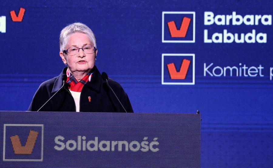 Barbara Labuda na konwencji Wiosny